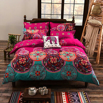 Mandala Duvet Covers Doona/Quilt Cover Set Single/Double/Queen/King Size Bed New