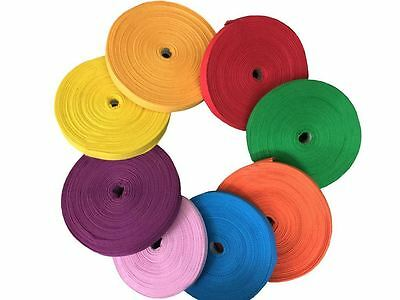 "KRAFTZ® 5 Pc Cotton Tape 25mm 1"" 50 Metres Roll Craft Bunting Dressmaking Sewing"