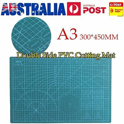 45x30CM A3 Double Sided Self Healing Rotary Knife Cutting Mat Paper Cut Board UO