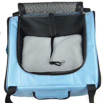 Folding Pet Gear Basket /Carrier Airline Approved with soft mat comfortable car