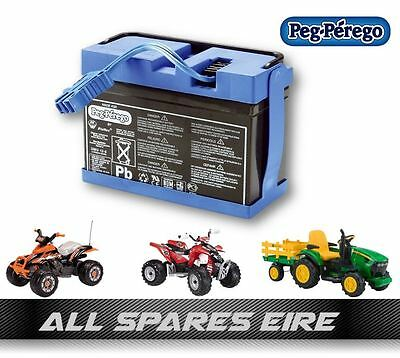 Genuine Peg Perego 12Volt 8Ah Replacement Battery John Deere Ground Force & More