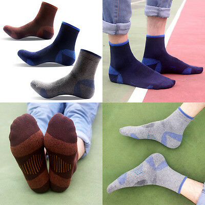 3 Pairs Men's Thickening Cotton Ankle Socks Climbing Camping Hunting One Size