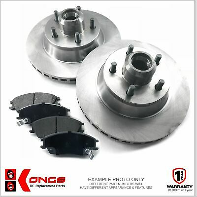 Front Brake Pad + Disc Rotors Pack for HOLDEN COMMODORE VL VN VG V8