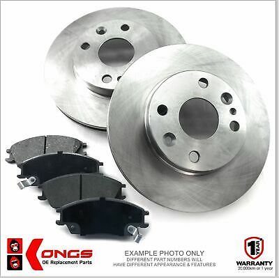 Front Brake Pad + Disc Rotors Pack for HOLDEN BARINA XC 1.4L 4/2001-06