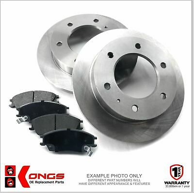Front Brake Pad + Disc Rotors Pack for TOYOTA HILUX 4WD GGN25 2011-On