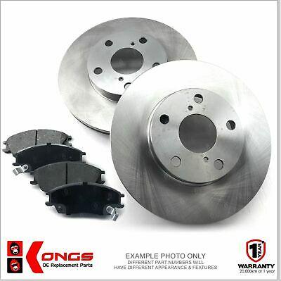 Front Brake Pad + Disc Rotors Pack for MITSUBISHI VERADA KR KS W/O ABS
