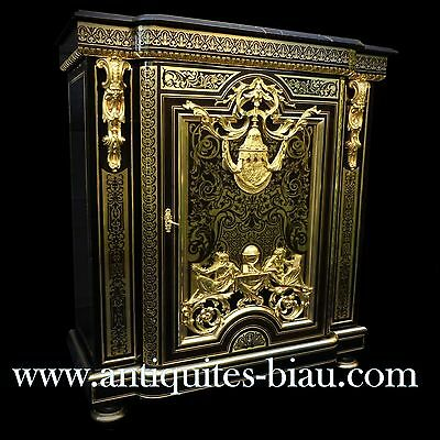 Antiques French Cabinet LXIV stamped CORNU in Boulle marquetry 19th Napoléon III