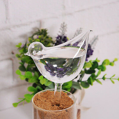 Glass Clear Bird Shape Simple Watering Sprinklers Device Plant For Garden