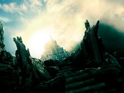 The Lord of the Rings Minas Anor Tirith Statues Art Huge Print POSTER Affiche