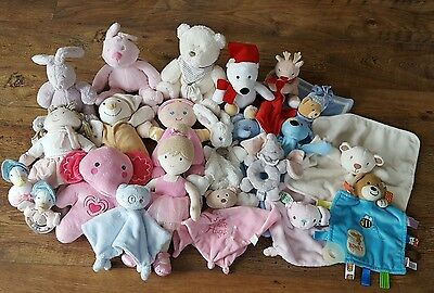 Baby Soft Toy Comforter Bundle Mothercare, Mamas & Papas Rag Doll & Lullaby Toys