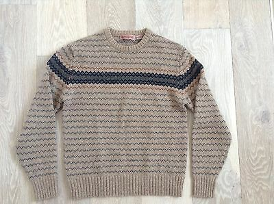 mens original vintage wool jumper by Henry Grethel size small EXCELLENT COND