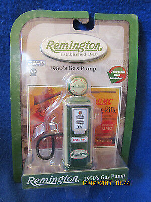Remington 1950'S Die Cast Collectible Green & White Gas Pump -Unopened