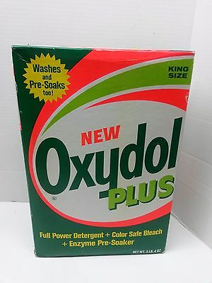 Vintage Unopened Box of Oxydol Plus Laundry Detergent King Size 5lb 4oz