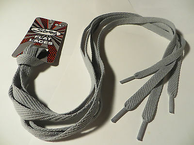 """Shoe Laces 54"""" - Gray - Flat Sneaker Shoelaces Strings Athletic Inches - NEW"""
