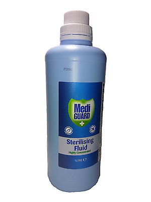 1 Litre Mediguard Sterilising Fluid Highly Concentrated -1/2/3/4/5/6/12 Bottles