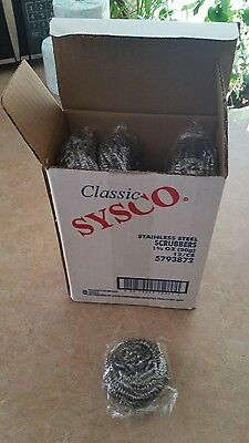 12 Sysco Stainless Steel Scrubers 1.75 Ounce