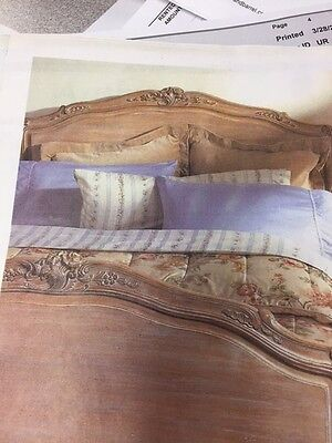 Hand Carved #458 Louis XV Headboard King Size Rich Walnut Wood by Auffrance Co.