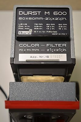 DURST M600 35mm ENLARGER, COMPLETE IN BOX w/SCHNEIDER 75mm F4.5 LENS