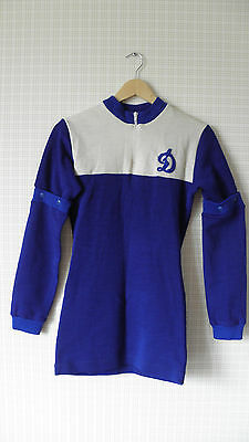 Vintage USSR pure wool Dinamo cycling jersey L size