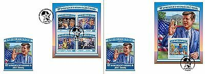 Z08 CA17105ab CENTRAL AFRICA 2017 John F. Kennedy First Day Caover FDC ETB