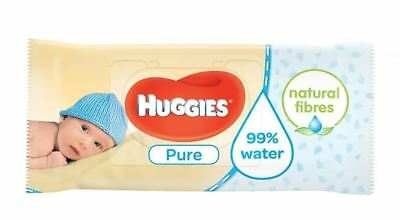 Huggies® Pure 560 Wipes Natural Gentle Cleansing Baby Wet Wipe Pack of 8/10