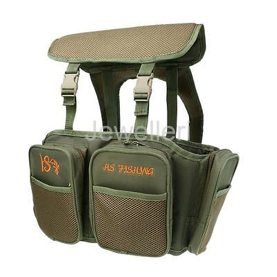 Canvas Fishing Seat Box Backpack Camping Stool Seat Box Carrier Rucksack