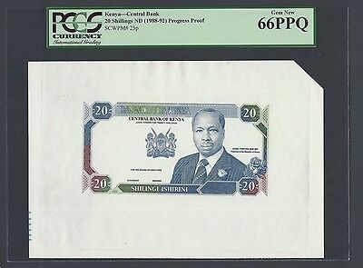 Kenya 20 Shillings ND(1988-92) P25p Proof Uncirculated