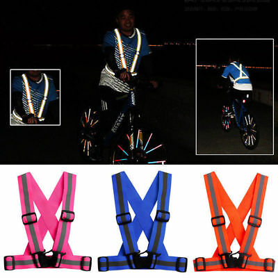 Reflective Running Gear Belt Adult Safety Security Visibility Adjustable Stripes