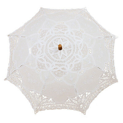 I163 Victorian umbrella umbrella lace wedding bride umbrella white 38x64cm