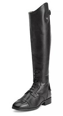 Ariat Challenge Contour Square Toe Zip Field Boot Black Size 8B 10012956 w/Box