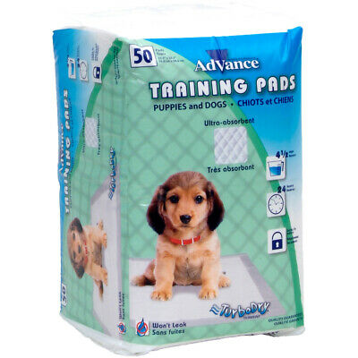 Advance Dog Training Pads With Turbo Dry Technology 50/Pkg-