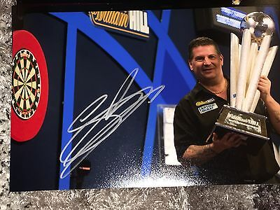 Signed Gary Anderson Darts Photo Proof * See Him Sign *