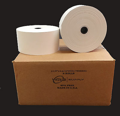 "Nautilus - Hyosung NH-1500 Series 3 1/8"" x 815' Heavy Thermal Paper (8 Rolls)"