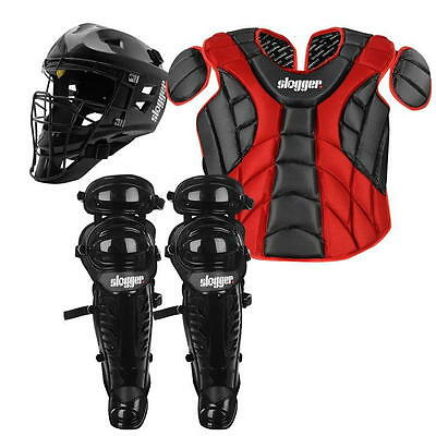 Baseball SET Helmet Chest Protector Pads 9-16 Years Multi Colour