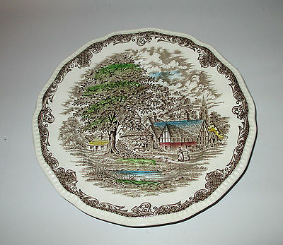 """Shakespeare's Sonnets Salad Plate Anne Hathaway's Cottage Enoch Wedgwood 7 3/4"""""""