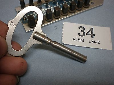Good Old Clock KEY Size 5, 3.50mm Stamp 7 parts spare wall mantle bracket
