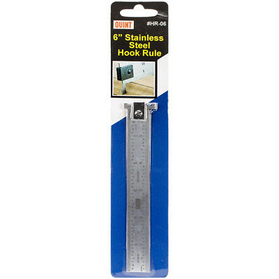 """Quint Measuring Systems HR06 Stainless Steel Hook Rule-6"""""""
