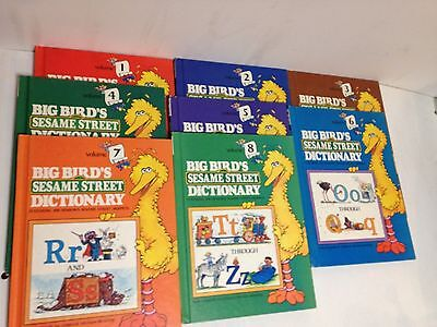 Big Bird's Sesame Street Dictionary COMPLETE 8 Volumes Abc Complete Alphabet