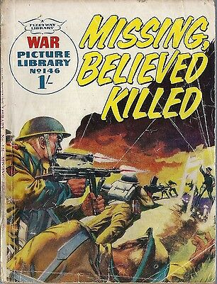 War Picture Library #146 MISSING BELIEVED KILLED Fleetway comic books British