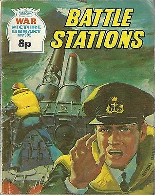 War Picture Library #992 BATTLE STATIONS Fleetway comic books British 1974 RARE