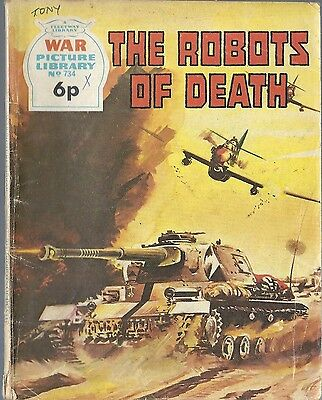 War Picture Library #734 THE ROBOTS OF DEATH Fleetway comic books British 1972