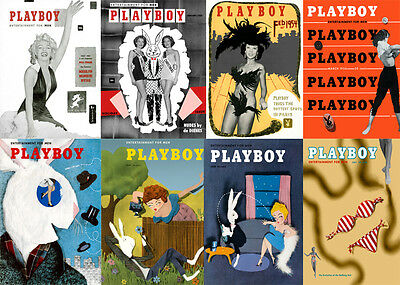 Playboy 1950's Covers Complete Set of 72 Photos Print 4x6 Glossy Finish