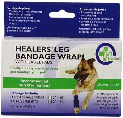 Bowserwear Healers Wraps for Dogs Medium Blue WRAP-MED