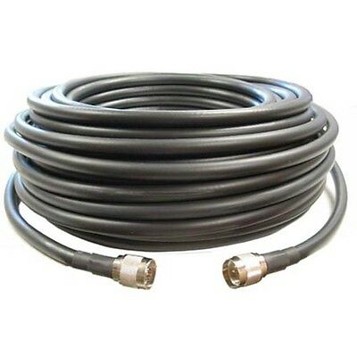 SureCall 75' CM400 Black Ultra-Low-Loss Coaxial Coax Cable w/ N MALE -SC001-75