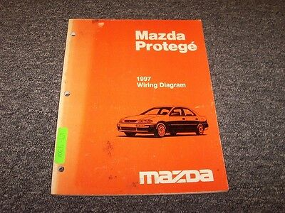 1997 mazda protege sedan electrical wiring diagram manual dx lx es 1 5l 1 8l