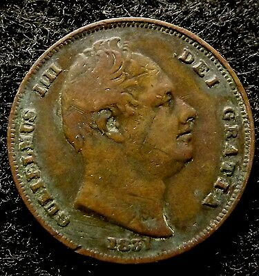 1831 GREAT BRITAIN Farthing - Extra Fine William IV 1/4d Coin, KM# 705 (#811)