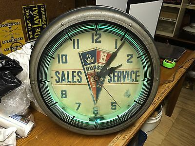 Old Original Hudson Sales Service Clock