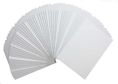 50 Pack High Quality 5x7 Picture Mat Matte Backerboards Backing Boards Framing