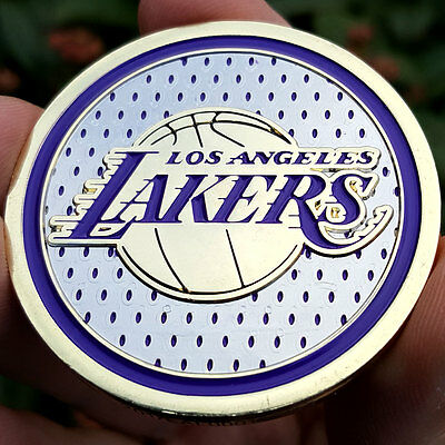 PREMIUM NBA Los Angeles Lakers Poker Card Protector Coin Golf Marker NEW