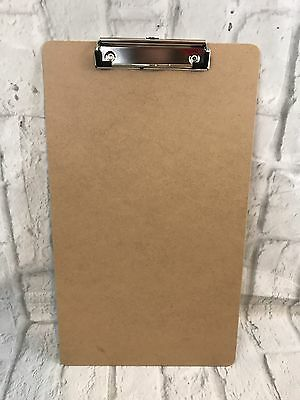 """Lot Of 12 Universal Brown Clipboards Holds 8 1/2"""" X 14"""""""